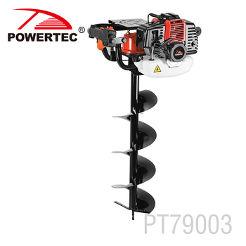 Powertec 52cc 1700w 100mm Earth Auger Gas Powered Post Hole Digger
