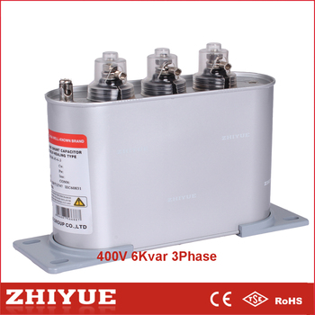 Electric Closet Parts 0.4 Kv 6 Kvar Three Phase Power Capacitor