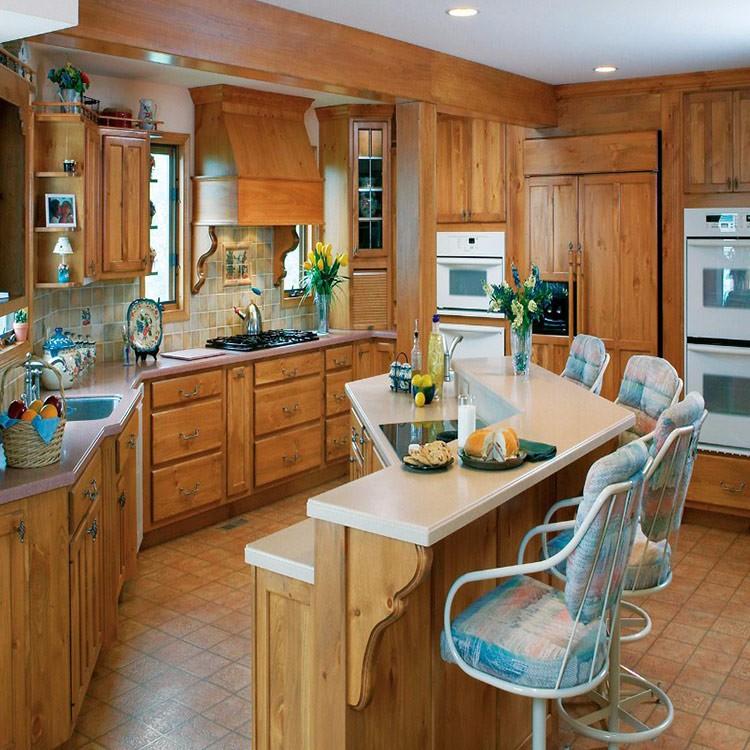 Villa Flat Pack Wood Design Used Kitchen Cabinet Furniture ...