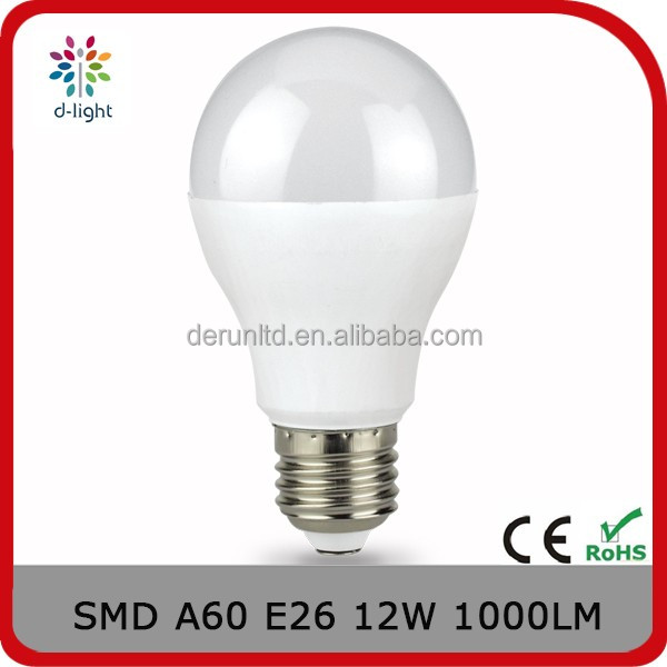 A60 tunable 1000lm 12w replacement 100w E26 pear shaped plastic body and aluminum inside high power led for Canada
