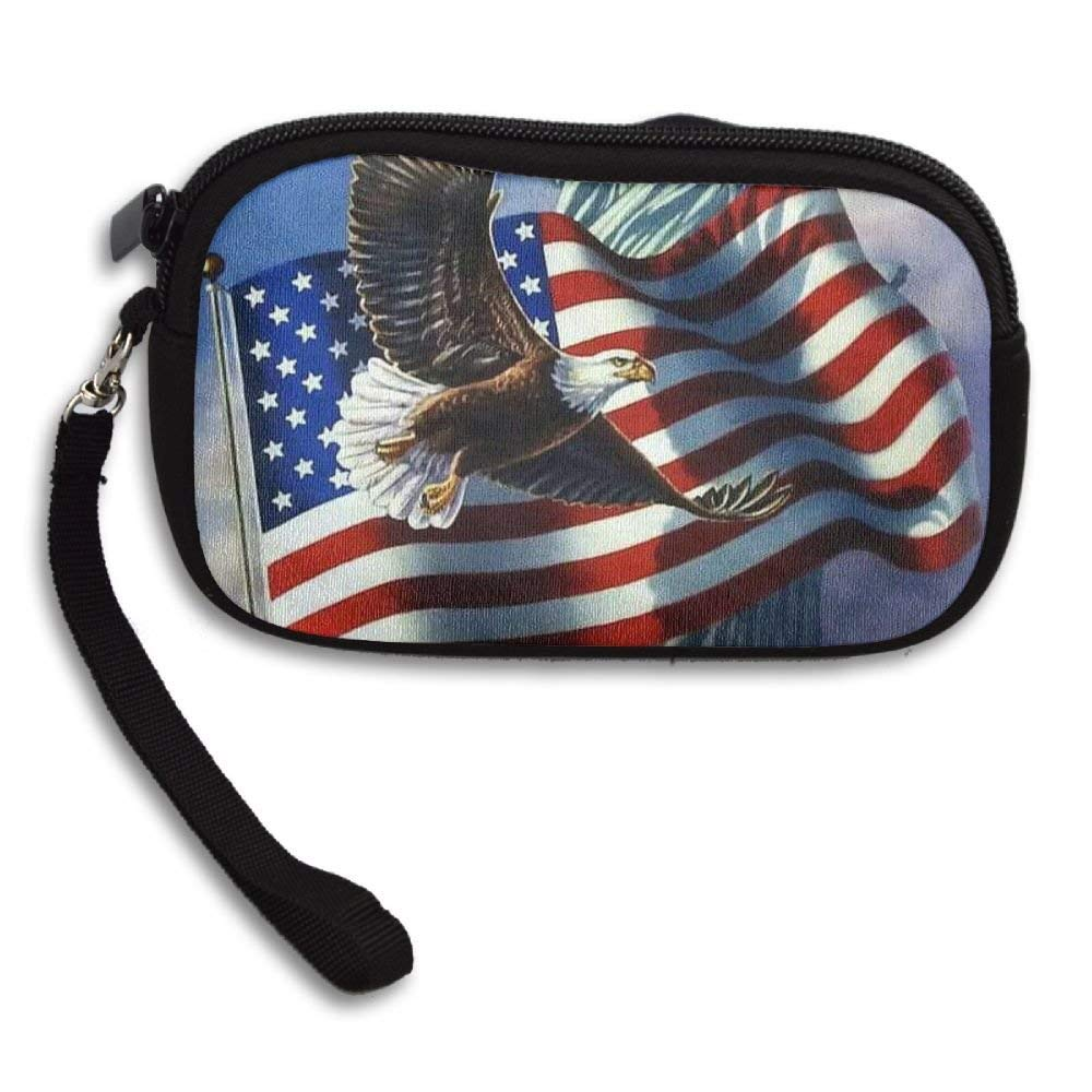 OCKLNT Unisex Clutch Wallet For Woman Ladies -Happy Independence Day Long Purse Bag Men Gentlemen