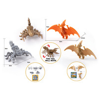 DIY 2 Model Mechanical Animals Pterosaurs Scorpion for Kids