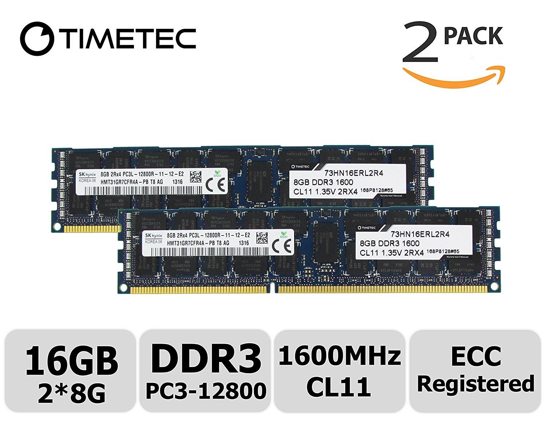 Buy Timetec Skhynix Hmt42gr7bfr4c Rdt4 64gb Kit 4x16gb Ddr3 Samsung Memory Server 16gb Pc3 12800r Ecc Rdimm 1866mhz 14900 Registered 15v Cl13 2rx4 1024x4 2 Rank 240 Pin