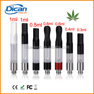 ce3 tank oil vaporizer cartridge .6ml red cbd cartridge bud dex atomizer 510 thread vapor pen