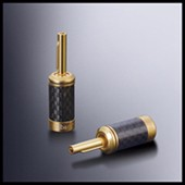 24K Gold Locking Speaker Cable Banana Plugs CE RoHS Compliant