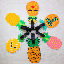 Pineapple Luggage Tag, Portable Secure Travel Kit Suitcase ID Fruit Luggage tag, Handbag Tote Bag Large Tag Travel Accessories