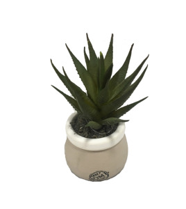 High Simulation Mini Artificial Succulent Plants with White Pots for Furniture Decoration