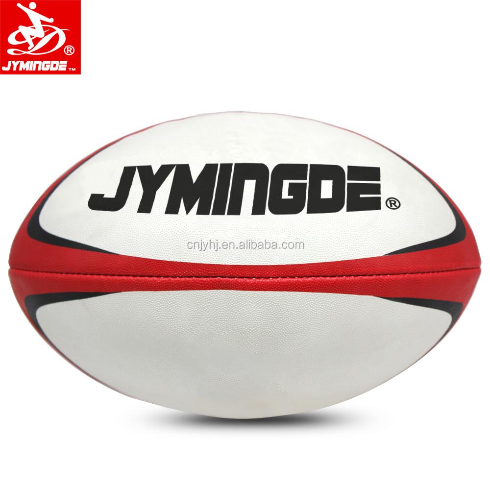 Ukuran resmi 5 desain kustom meningkat rugby pertandingan bola