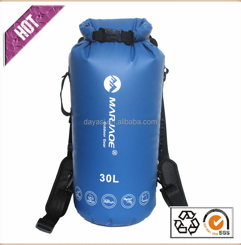 Waterproof PVC Tarpaulin backpack with TPU Waterproof zipper for Under Water Sports River Tracing