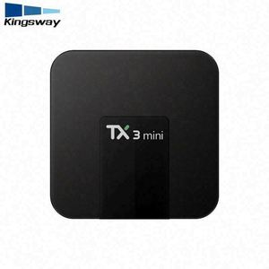 Amlogic S905W Android 7.1 TV BOX TX3 MINI 1g 16g smart tv box with KDplayer 17.3 Quad Core 3 in 1 av port