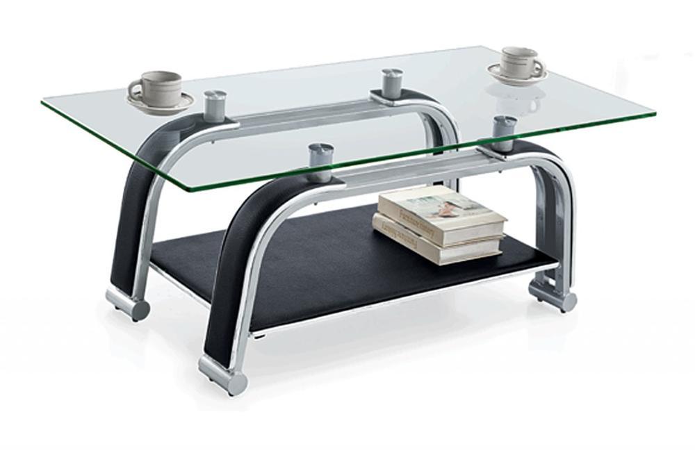 Mobilier de bureau dubai noir verre table À thé café petite table