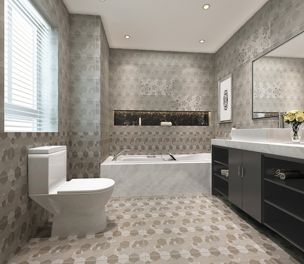 3d Bathroom Tiles Mixed Color Ceramic Wall Tile For Kitchen Tiles3d Bathroom Wall