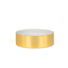 35/400 gold aluminum lid for jar and bottle