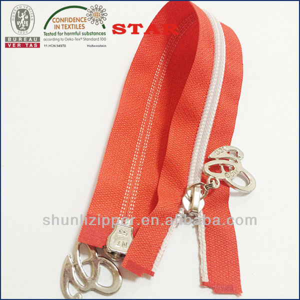 5# nylon two way o/e transparent teeth zipper