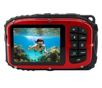 Sport C123 Digital Still Camera - Red (12MP, Waterproof) 2.7 inch LCD VS-226