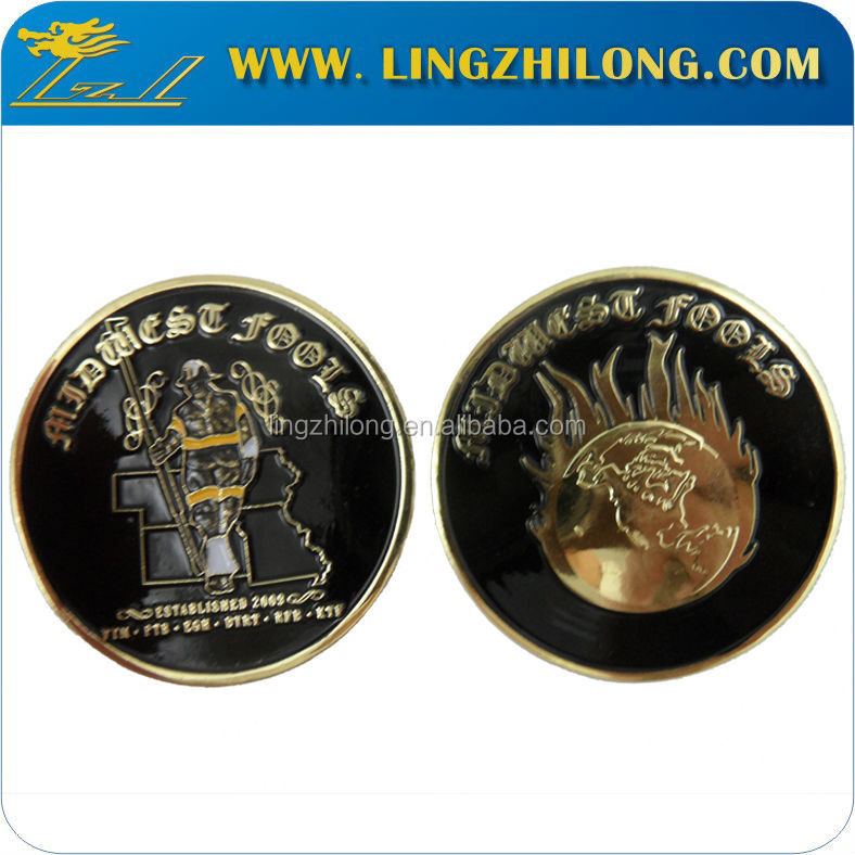 Factory price 18k bright gold plated old coins