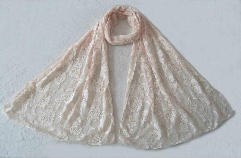 無地の女性製造業者のための細長いスカーフのレースのショール-マフラー、帽子、手袋セット問屋・仕入れ・卸・卸売り