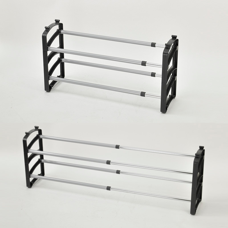 Ordinaire Customer Made Plastic Double Adjustable Shoes Rack   Buy Stackable Shoes  Rack,Plastic Shoes Rack,2 Tier Black Shoes Rack Product On Alibaba.com