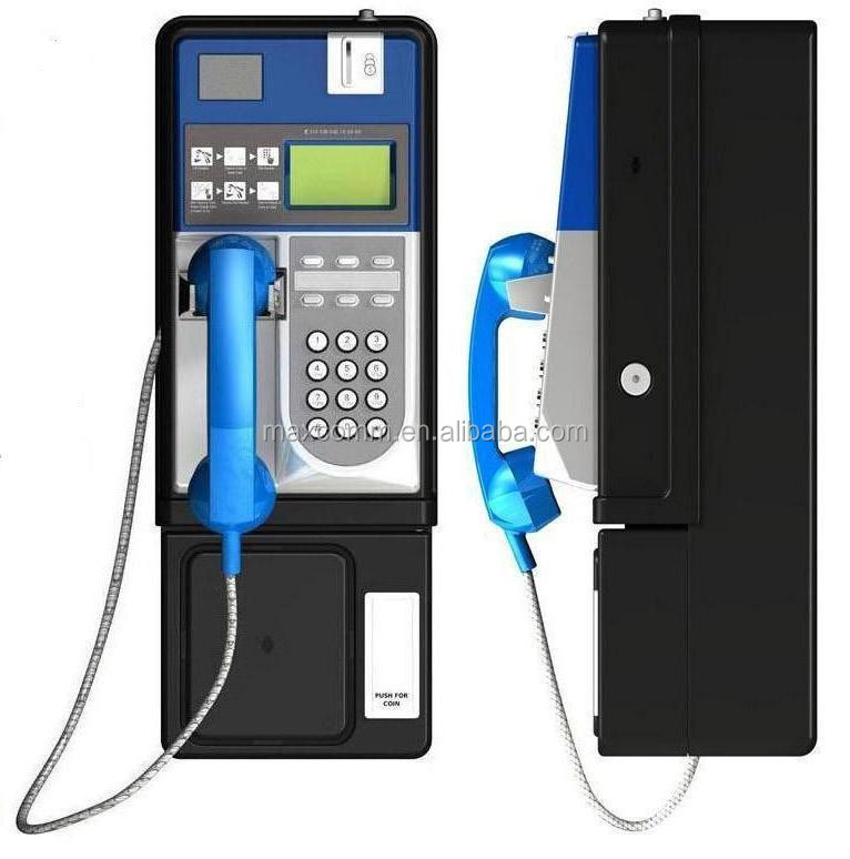 PSTN Coin Payphone with metal casing support LCR upgradable to GSM or CDMA