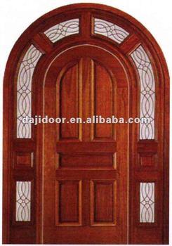 Arco superior exterior de madera puertas de paneles dj - Paneles madera exterior ...