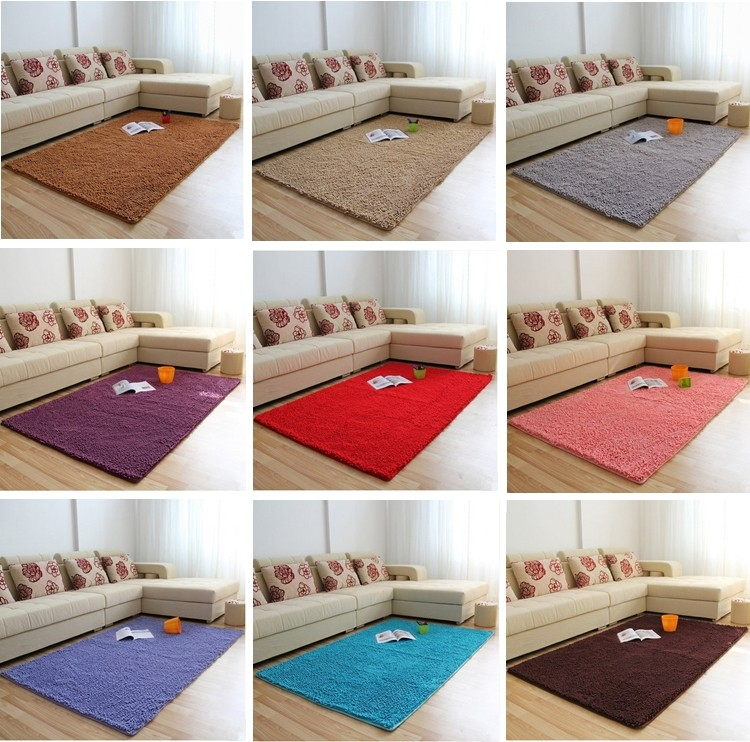 chenille floor mat with long pile