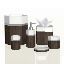 Modern Design Hexagon <span class=keywords><strong>Bad</strong></span> Kamer Wc Accessoires Set voor Hotel & Huis