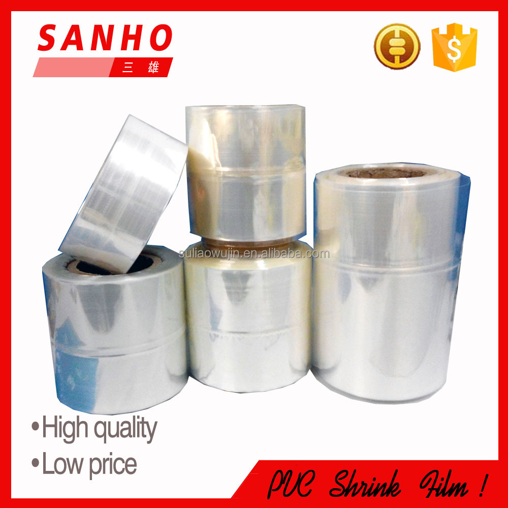 Transparent Transparency and Soft Hardness pvc heat shrink film