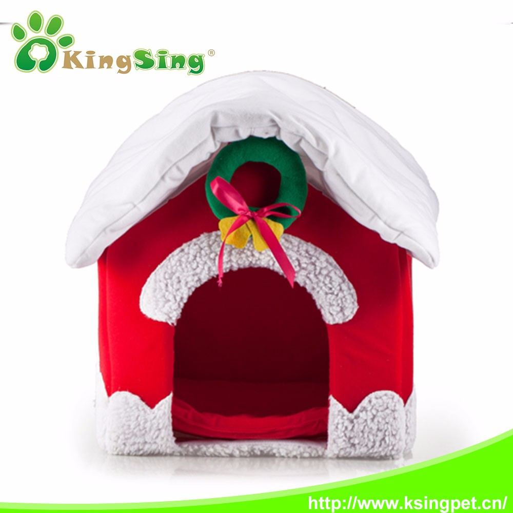 2016 Santa Patterned lovely pet dog house from china