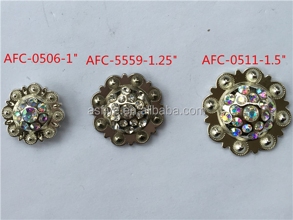silver plated conchos for leather in guangzhou