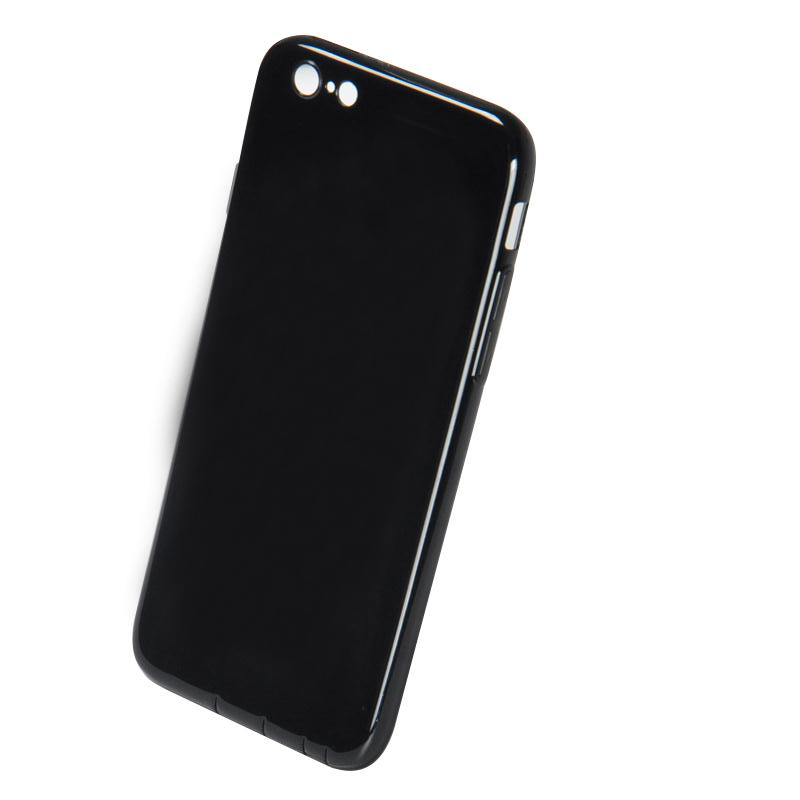 DFIFAN Soft tpu phone case for apple iphone 6 , Jet Black cover for apple iphones 6 plus cases