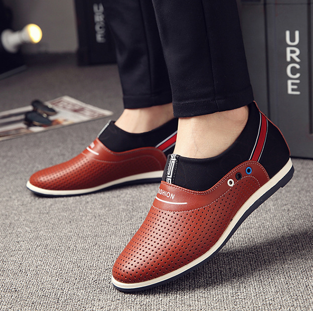 64f15e558b8 DL10136A casual men shoes 2017 new stylish summer leather loafer shoes for  men