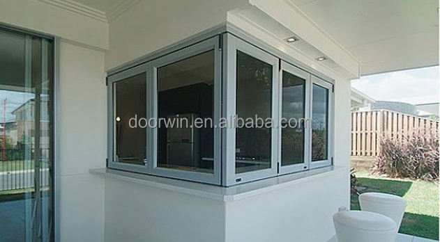 Aluminio doble vidrio bifold ventana para mueble de cocina for Ventanas de aluminio para cocina
