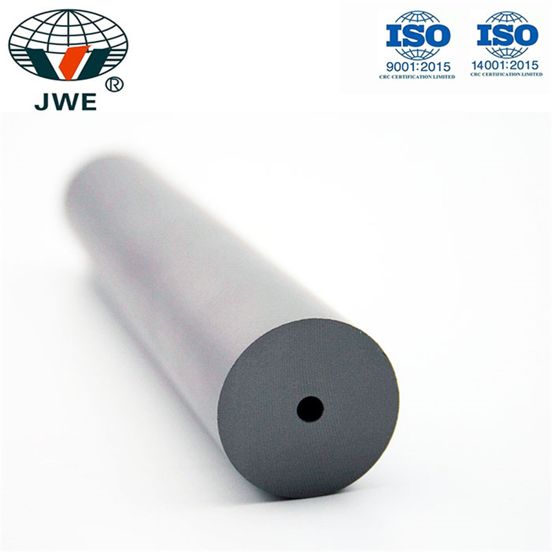 Tungsten carbide rod single with straight central hole for end drill