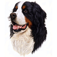 High quality animal full diamond painting 5D DIY handmade cross stitch mosaic cute dog diamond painting room decor