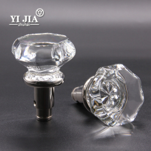 Special Fancy Octagon Shape Nickel Bathroom Glass Door Handles