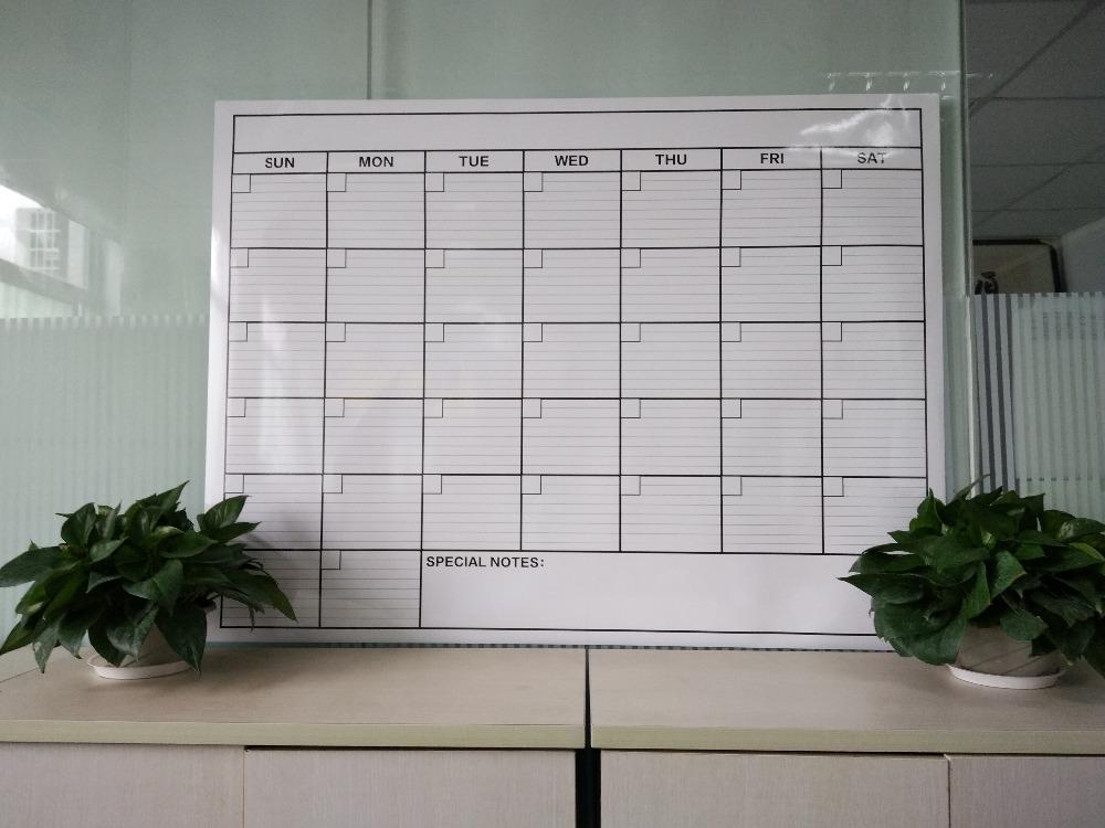 2017 Colorful Custom Dry Erase 365 Day Calendar Wall