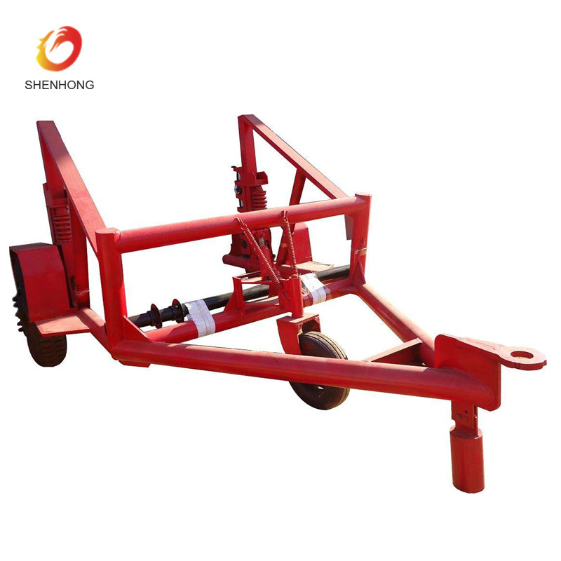 Cable Laying Equipment 3 Ton Cable Drum Trailer Cable Carrier