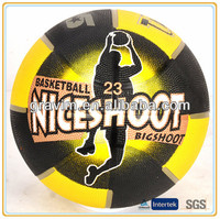 8 panels size 7 promotional rubber basketballs