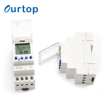 Two Channel Din Rail Mounted Electronic Timers With Cycle Program And Pulse Program
