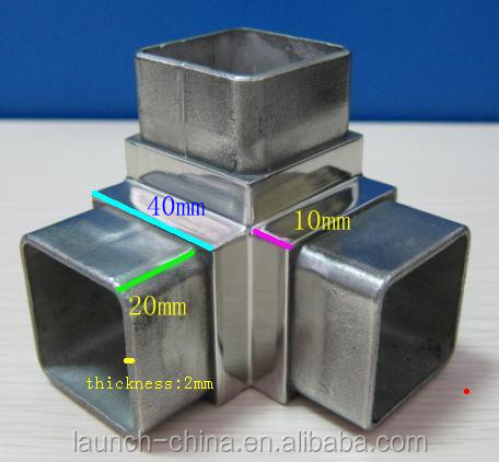 Stainless Steel Tube Handrail Square Tube Connector Square Tube ...