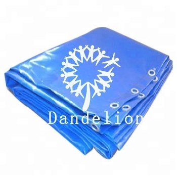 waterproof multi-color extreme-duty custom printed pvc tarp