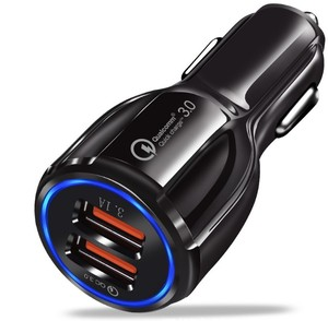 3.1A QC 3.0 dual usb ports car power charger adapter
