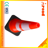 70cm waterproof rubber cone reflective warning reflective safety road cone pvc traffic cone