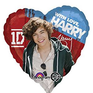 "Single Source Party Supplies - 17"" One Direction Harry Mylar Foil Balloon"