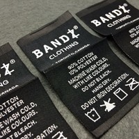 eco-friendly TPU printed clear garment label /clothing TPU labels