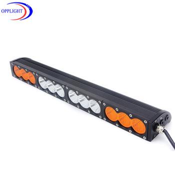 Amber Led Light Bar 126w 12v 24v 10w