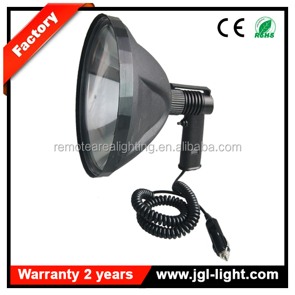 Super bright outdoor searching 100w halogen hunting lamp 240mm reflector 12v handheld hunting spotlight