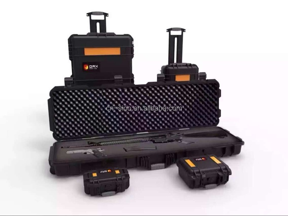 Military Used Large Hard Plastic Waterproof ip67 Rifle Case With Pre-cut Foam For Firearms/guns