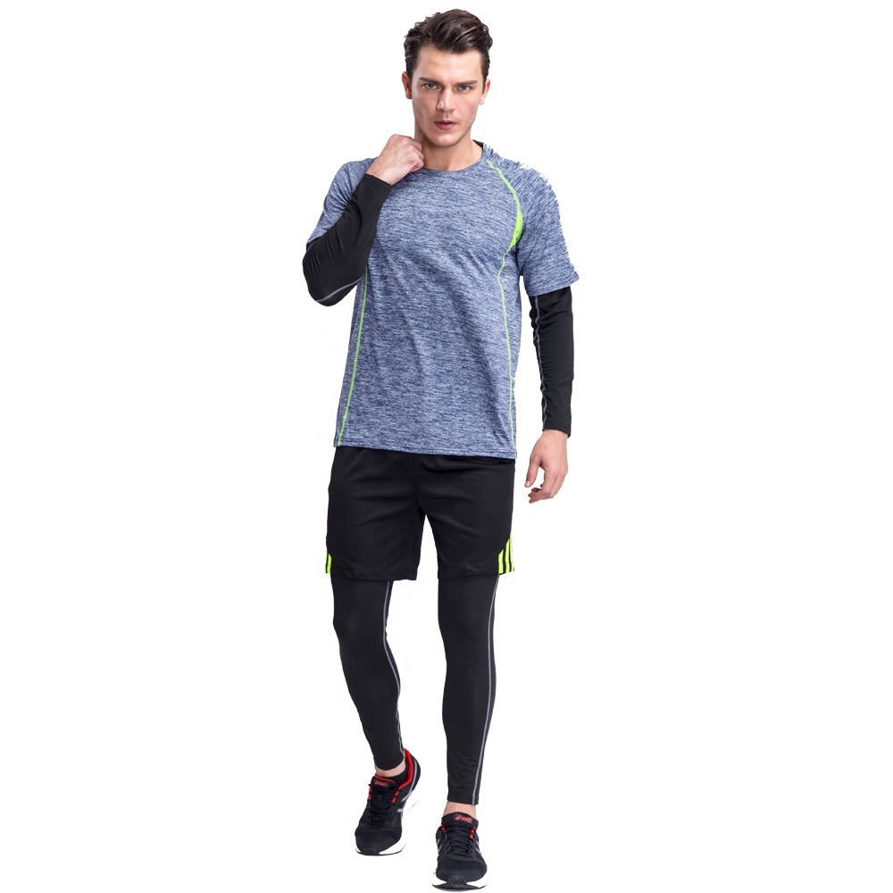Wholesale Blank Sports Fitness t shirt Gym Wear men t-shirt