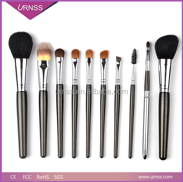 Professional 10pcs makeup brush, Free Sample Makeup Brush Set with high quality